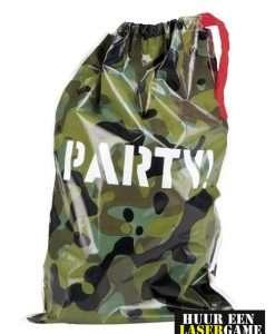 camouflage feestzakje lasergame kinderfeestje