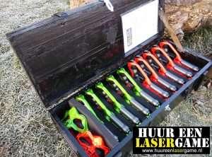 Huur een lasergame set stoere kist vol met lasergame spullen