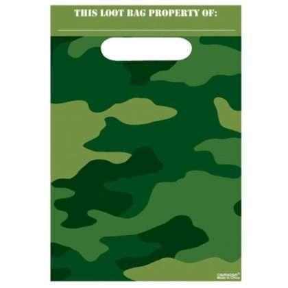 camouflage feestzakje