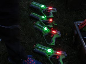 Groene lasergame pistolen